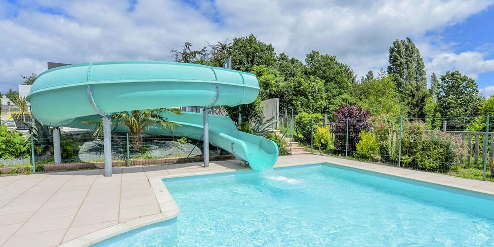 Camping with water slides in the morbihan
