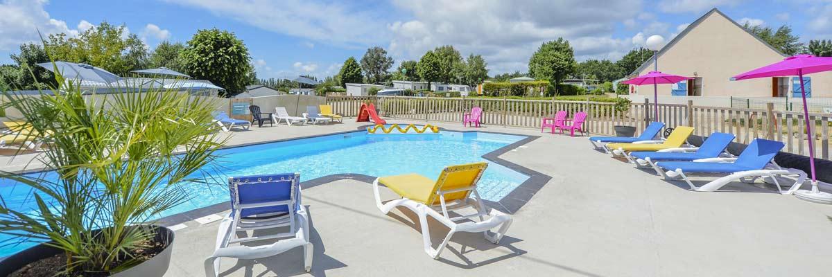 Camping avec parc aquatique morbihan piscine chauff e for Piscine morbihan