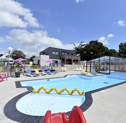 camping with swimming pool in the morbihan