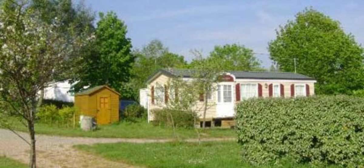 location Mobil home Eco avec terrasse Morbihan